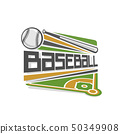 Vector baseball logo 50349908