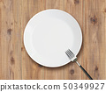 White dishes and forks 50349927