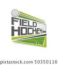 Vector logo for field hockey 50350116