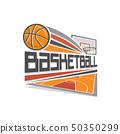 Vector logo for basketball 50350299