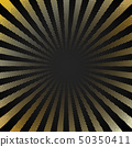 Abstract retro shiny starburst black background 50350411