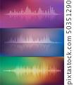 Sound wave rhythm. 50351290