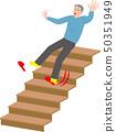 老人的家庭意外從樓梯上掉下來 50351949