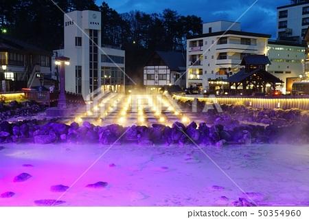 Yubata light up in Kusatsu Onsen, Gunma Prefecture 50354960