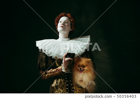 Medieval young woman as a duchess 50356403