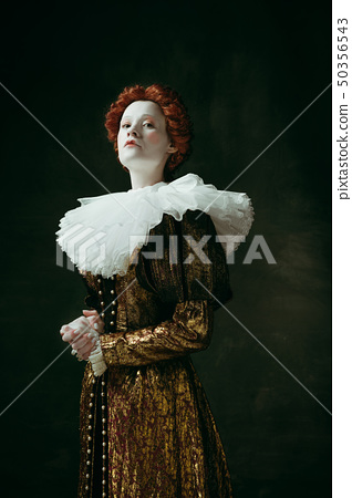 Medieval young woman as a duchess 50356543