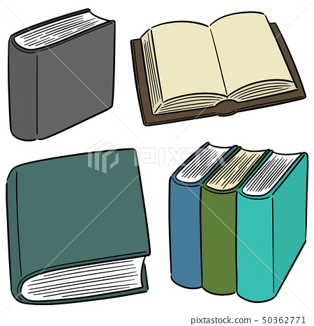 vector set of book 50362771
