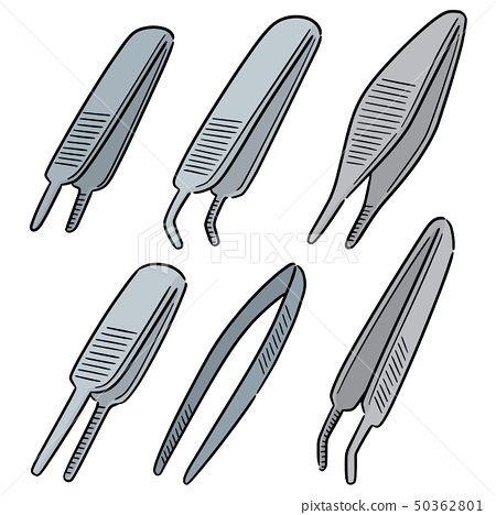 vector set of forceps 50362801