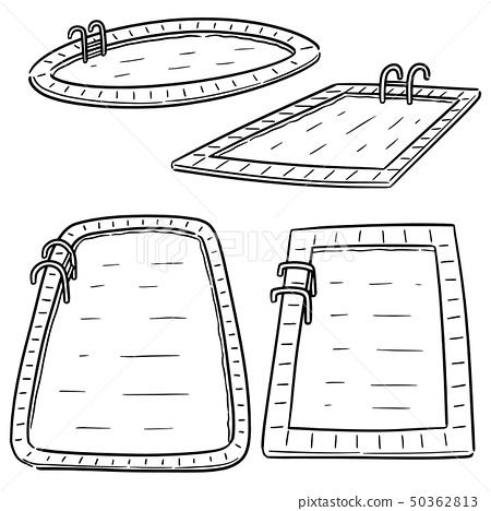 vector set of swimming pool 50362813