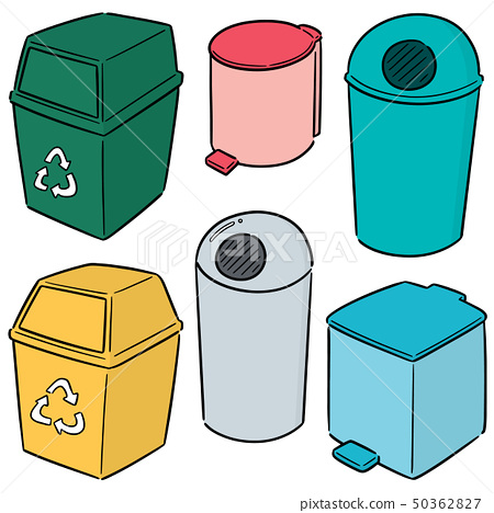 vector set of recycle garbage 50362827