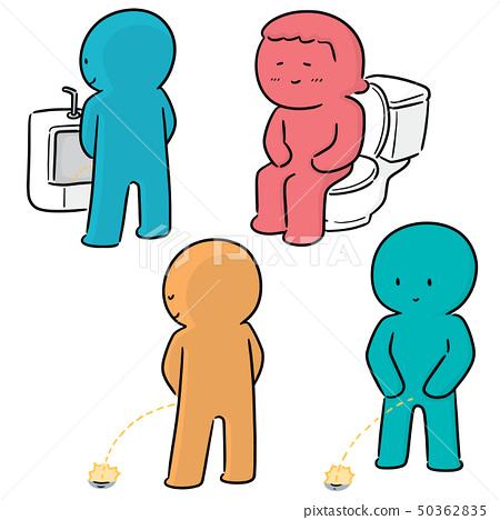 vector set of people peeing 50362835