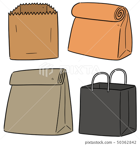 vector set of paper bag 50362842