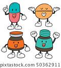 vector set of medicine cartoon 50362911