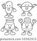 vector set of medicine cartoon 50362915