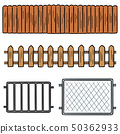 vector set of fence 50362933