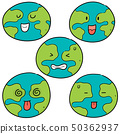 vector set of earth cartoon 50362937