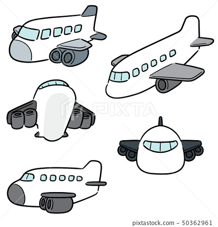 vector set of airplane 50362961