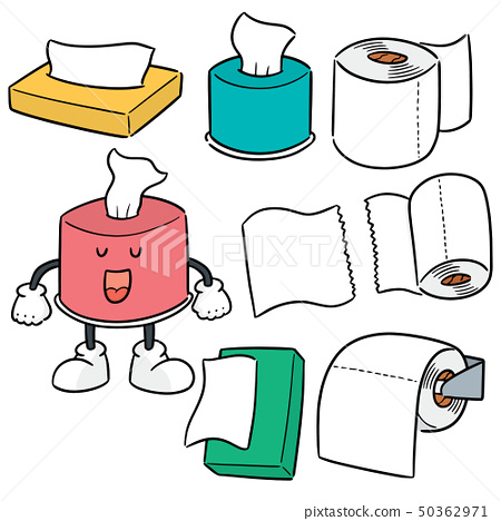 vector set of tissue paper 50362971