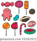 vector set of sweets and candies 50362972