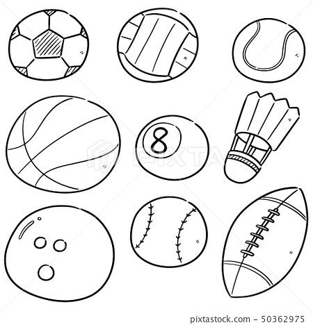vector set of sport equipments 50362975
