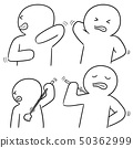 vector set of people scratching back 50362999