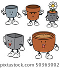vector set of pots cartoon 50363002