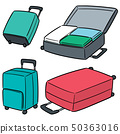 vector set of suitcase 50363016