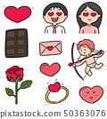 vector set of valentine cartoon 50363076