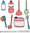 vector set of toilet cleaner 50363080