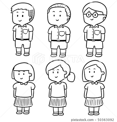 vector set of student 50363092