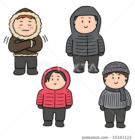 vector set of people in winter clothes 50363122
