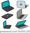 vector set of laptop 50363128