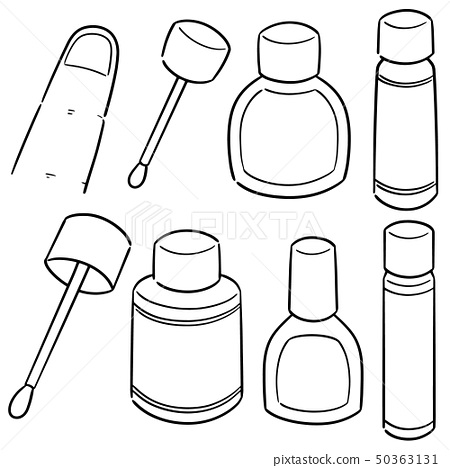 vector set of nail polish 50363131