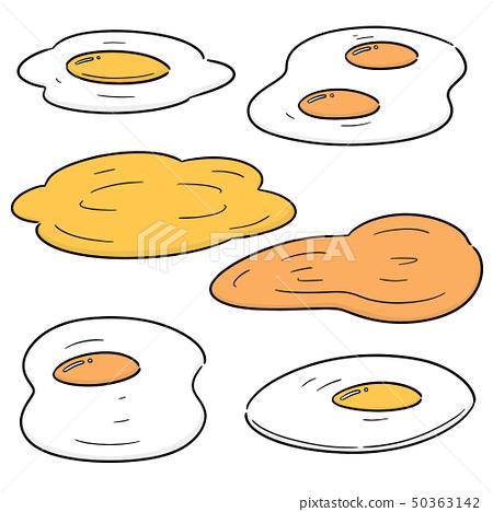 vector set of fried egg 50363142