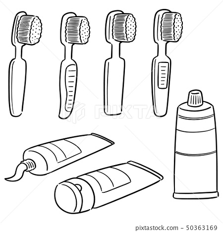 vector set of tooth care set 50363169