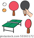 vector set of table tennis 50363172