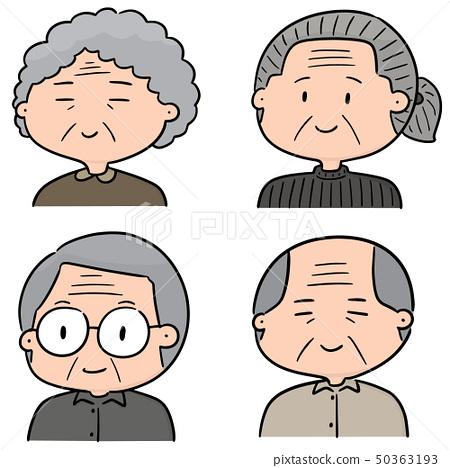 vector set of elder people 50363193