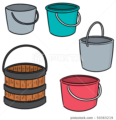 vector set of bucket 50363219