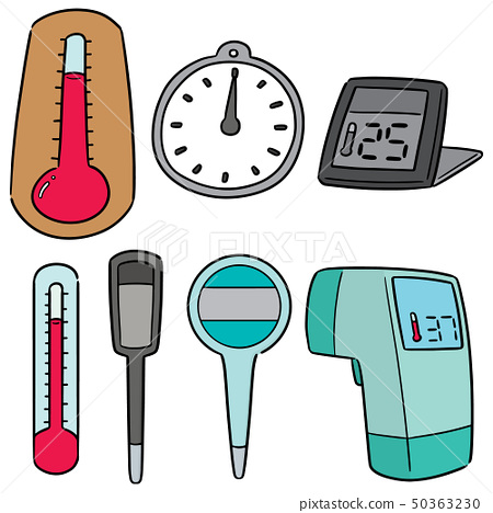 vector set of thermometer 50363230