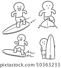 vector set of surfer 50363233