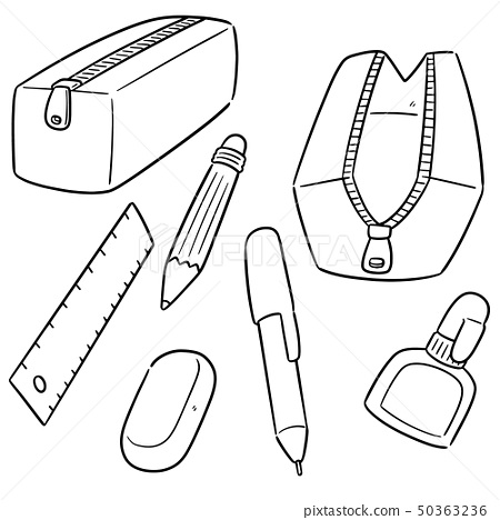 vector set of stationery 50363236