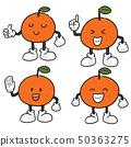 vector set of orange 50363275