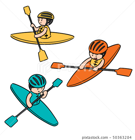 vector set of kayak 50363284