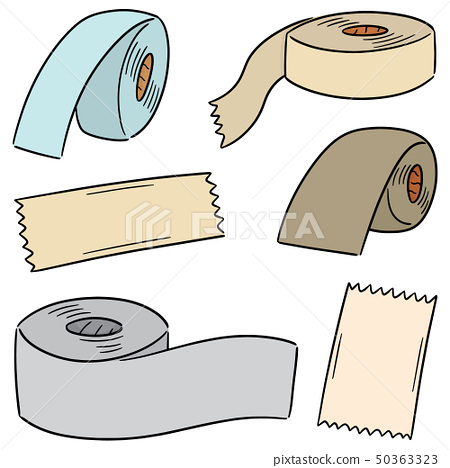 vector set of adhesive tape 50363323