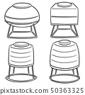 vector set of water storage tanks 50363325
