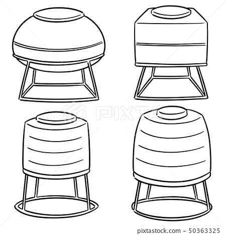 vector set of water storage tanks 50363325