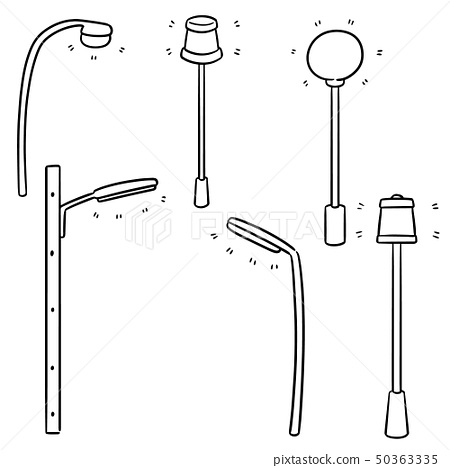 vector set of outdoor lamp 50363335