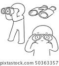vector set of people using binoculars 50363357