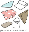 vector set of napkin 50363361