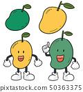 vector set of mango 50363375